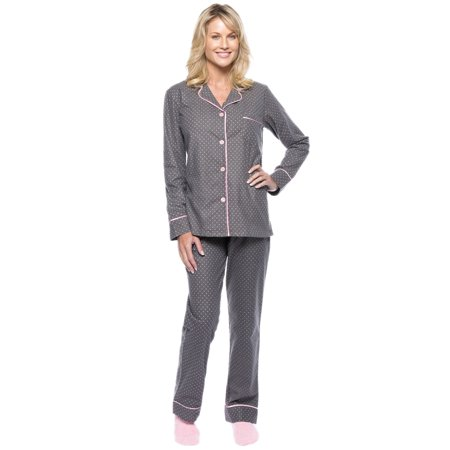 Noble Mount Womens Premium 100% Cotton Flannel Pajama Sleepwear - Halloween Pajamas Womens