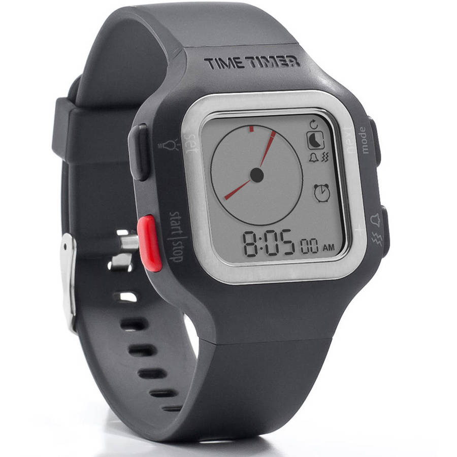 The Time Timer Watch PLUS, Large, Gray