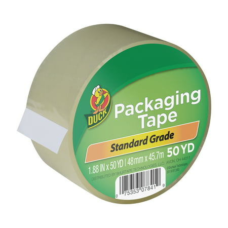 Duck Brand 1.88 in x 50 yd Clear Standard Packing Tape