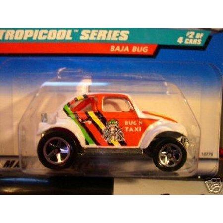 Hot Wheels 1998 Tropicool Series White Baja Bug 1:64 Scale Collectible Die Cast Car Model 2/4 (Baja Bug Hot Wheels)