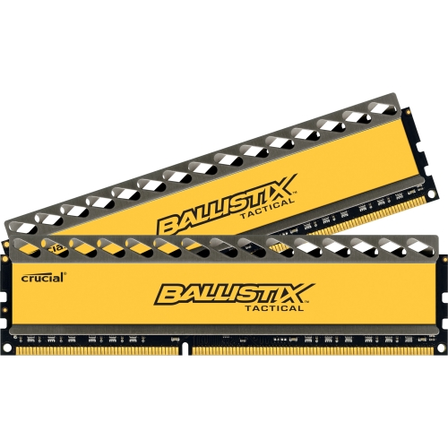 Crucial BLT2KIT4G3D1608DT1TX0 Crucial Ballistix Tactical 8GB DDR3 SDRAM Memory Module - 8 GB (2 x 4 GB) - DDR3 SDRAM - 1600 MHz DDR3-1600/PC3-12800 - Non-ECC - Unbuffered - 240-pin
