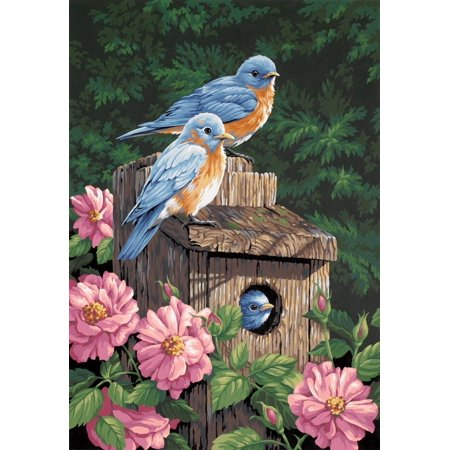 Dimensions Needlecrafts Paintworks Paint By Number Garden Bluebirds