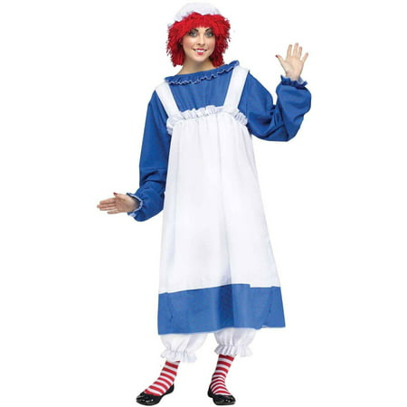 Raggedy Ann Women's Adult Halloween Costume, 1 Size](Raggedy Ann Toddler Halloween Costume)