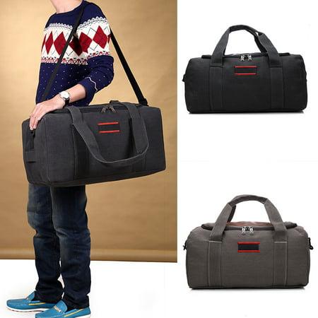 d3af8e15e L Size Capacity Retro Canvas Handbag Travel Hiking Duffle Bags Men Women  Outdoor Suitcase Casual Shoulder Bag - Walmart.com