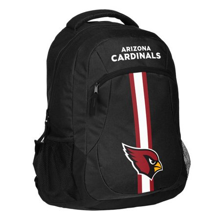 Forever Collectibles NFL Arizona Cardinals Action Stripe Logo Backpack (Arizona Cardinals Backpack)