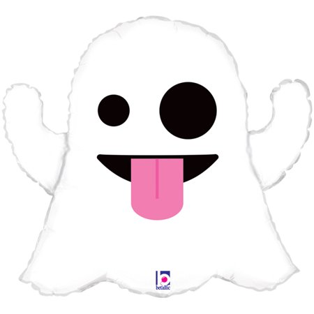 Betallic Giant Emoticon Emoji Tongue Out Ghost 28