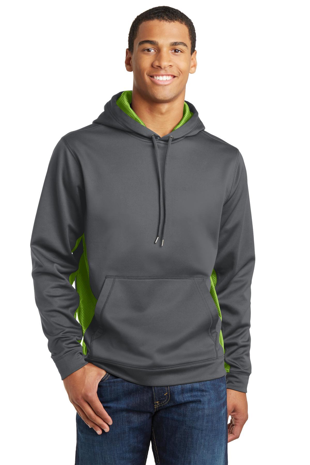 Sport-Tek Sport-Wick CamoHex Fleece Colorblock Hooded Pullover