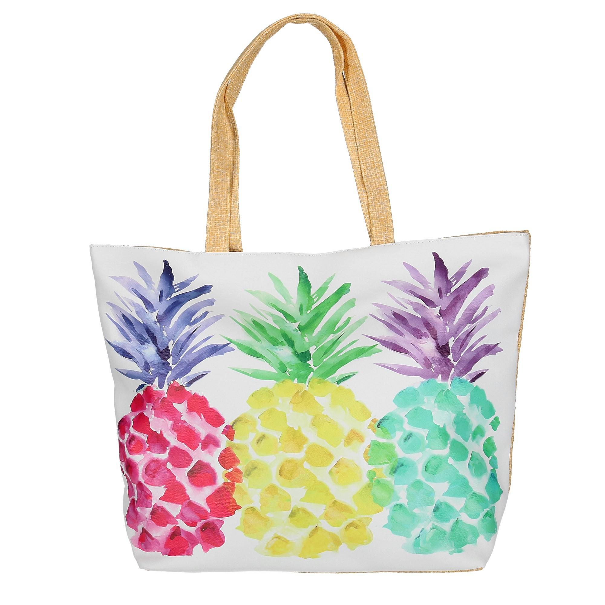 CTM Women s Pineapple Print Tote Bag 6f5bf9b4b2