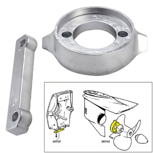 Tecnoseal Anode Kit Volvo 280 with Hardware Magnesium Polybag 20701MG