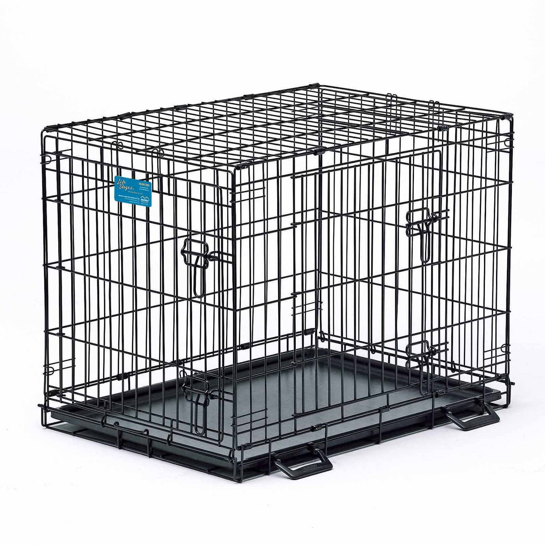 Life Stages Single Door Folding Metal Dog Crate - Walmart.com