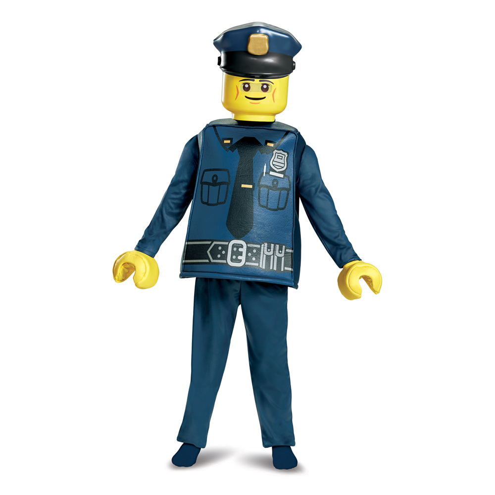 Kids Lego Police Officer Halloween Costume by Disguise