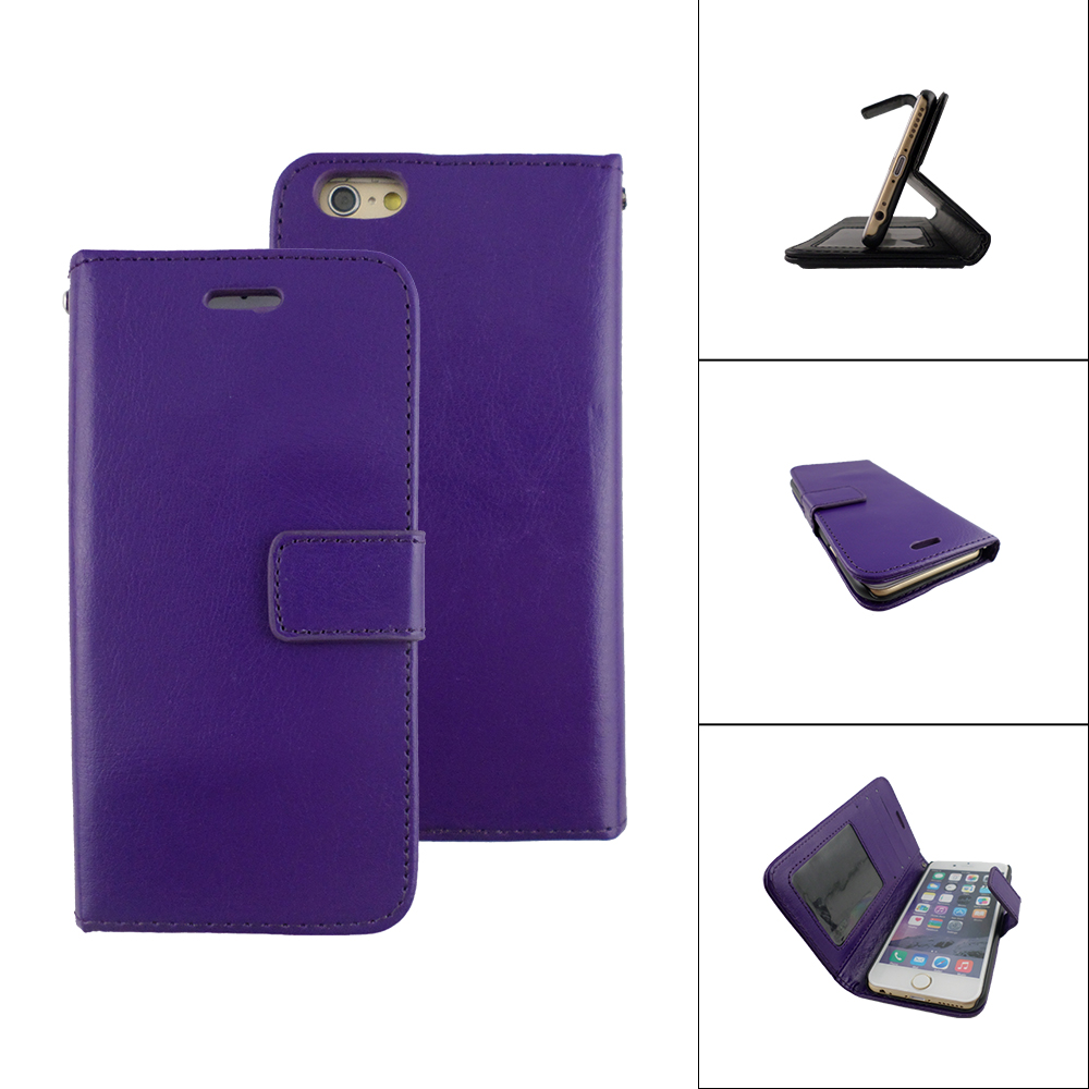 TCD iPhone 7 Slim PU Leather Wallet Case Cover Screen Protector Stylus