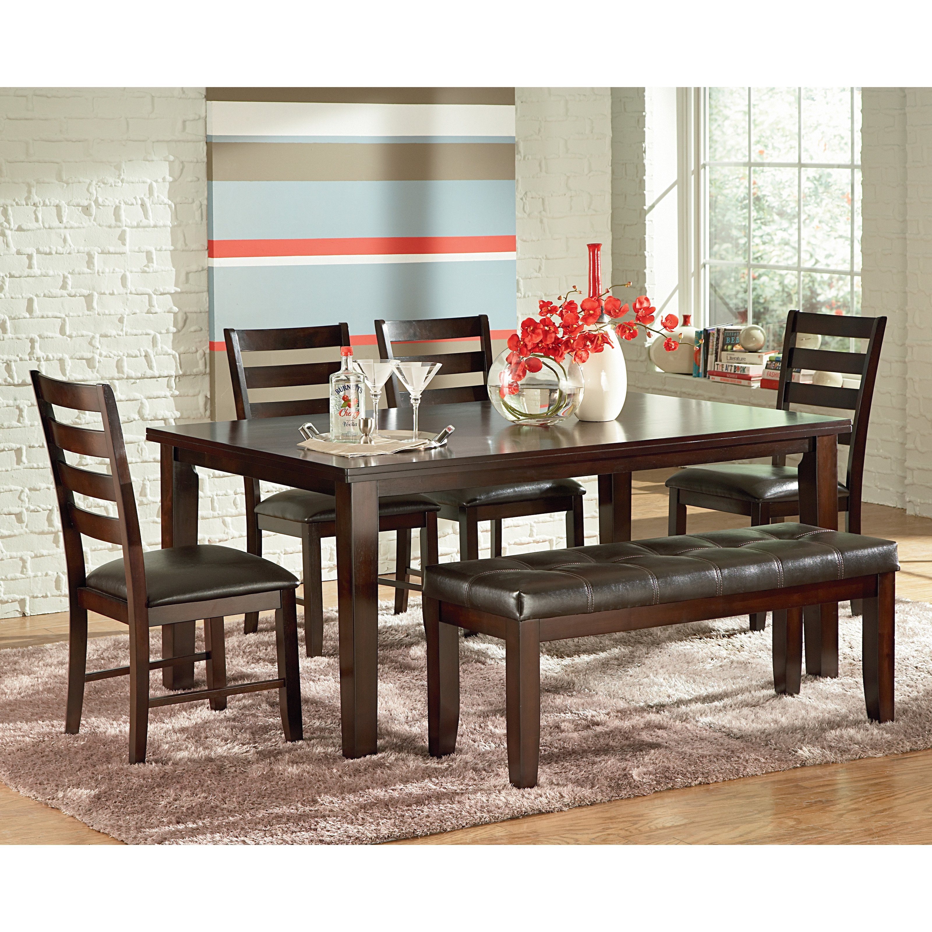 Steve Silver Sao Paulo Side Dining Chairs - Espresso - Set of 2