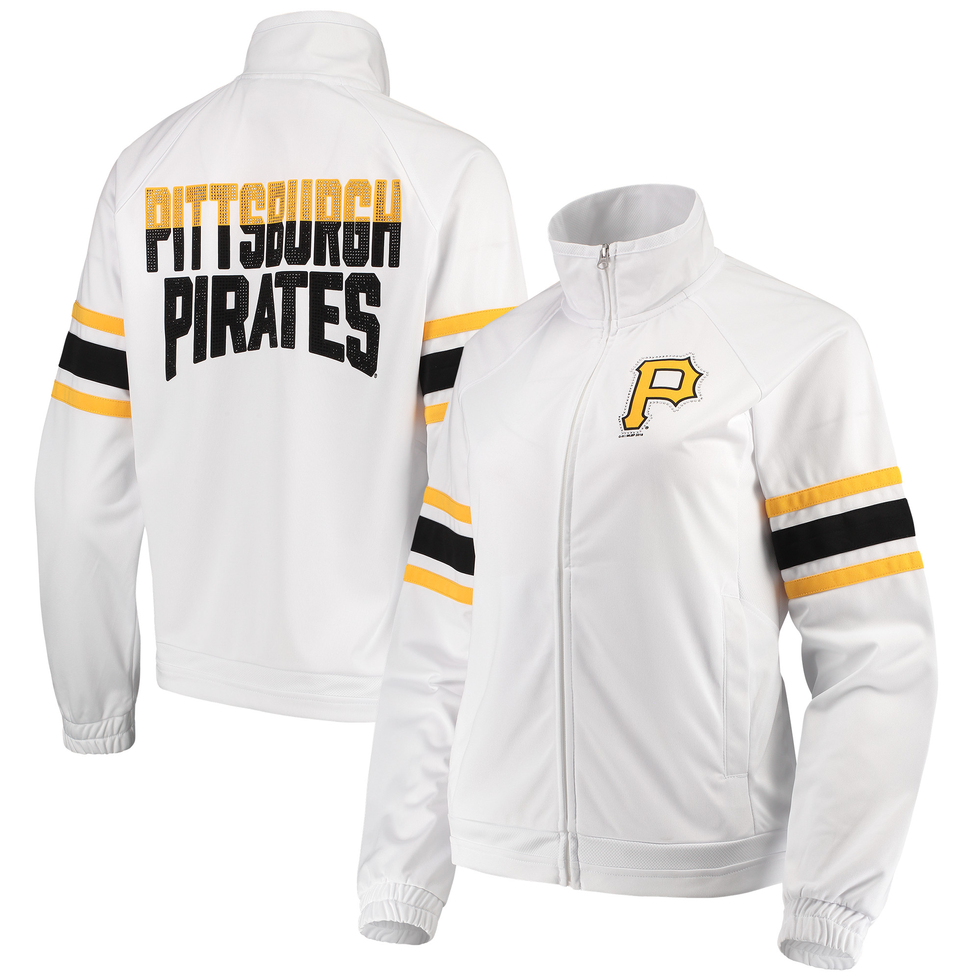 Pittsburgh Pirates G-III 4Her by Carl Banks Women's Game Score Full-Zip Track Jacket - White