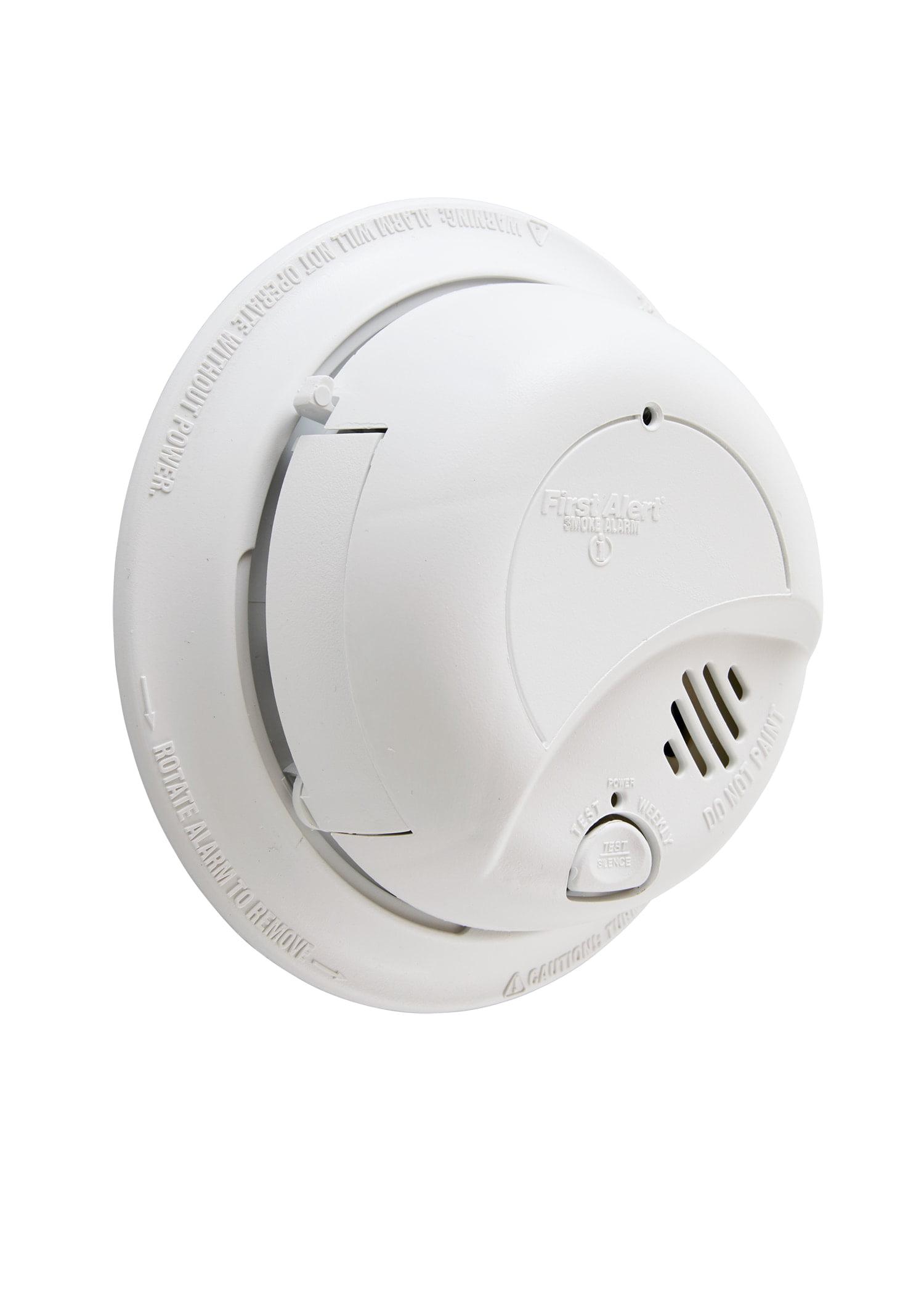 First Alert SA9120BPCN 120V AC Hardwired Smoke Alarm with Adapter ...