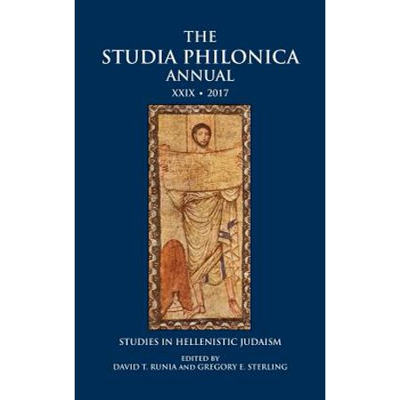 - The Studia Philonica Annual XXIX, 2017 (Hardcover)