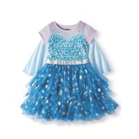 Disney Frozen Elsa Cosplay Tiered Tutu Tulle Dress With Detachable Cape (Little Girls & Big Girls)