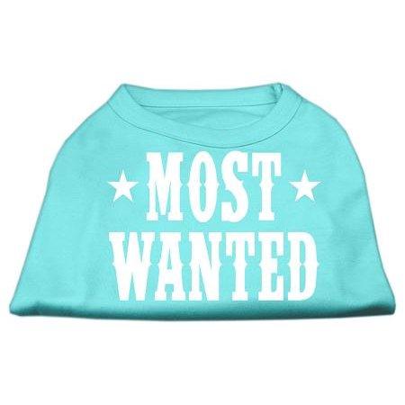 most wanted screen print shirt aqua xs 8