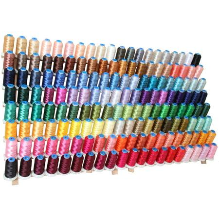 Threadart 160 Spool Polyester Embroidery Machine Thread Sets A,B,C&D  1000M Spools 40wt  For Brother Babylock Janome Singer Pfaff Husqvarna Bernina Machines - 160 1000M Colors