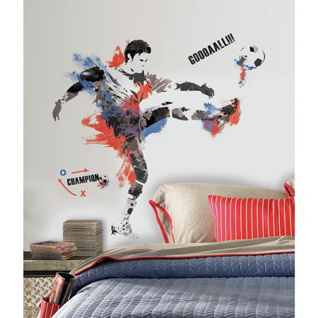 Soccer Wall (Men's Soccer Champion Peel and Stick Giant Wall Decals )
