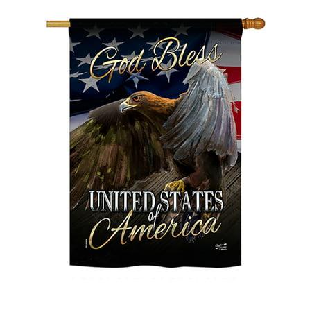 American Heritage Eagle (Angeleno Heritage H137136-BO American Eagle Americana Patriotic Impressions Decorative Vertical 28