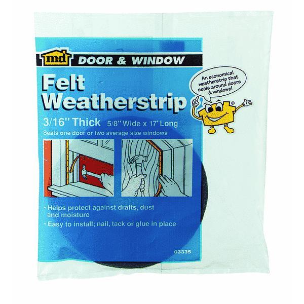 M-d Products Felt Weather Strip