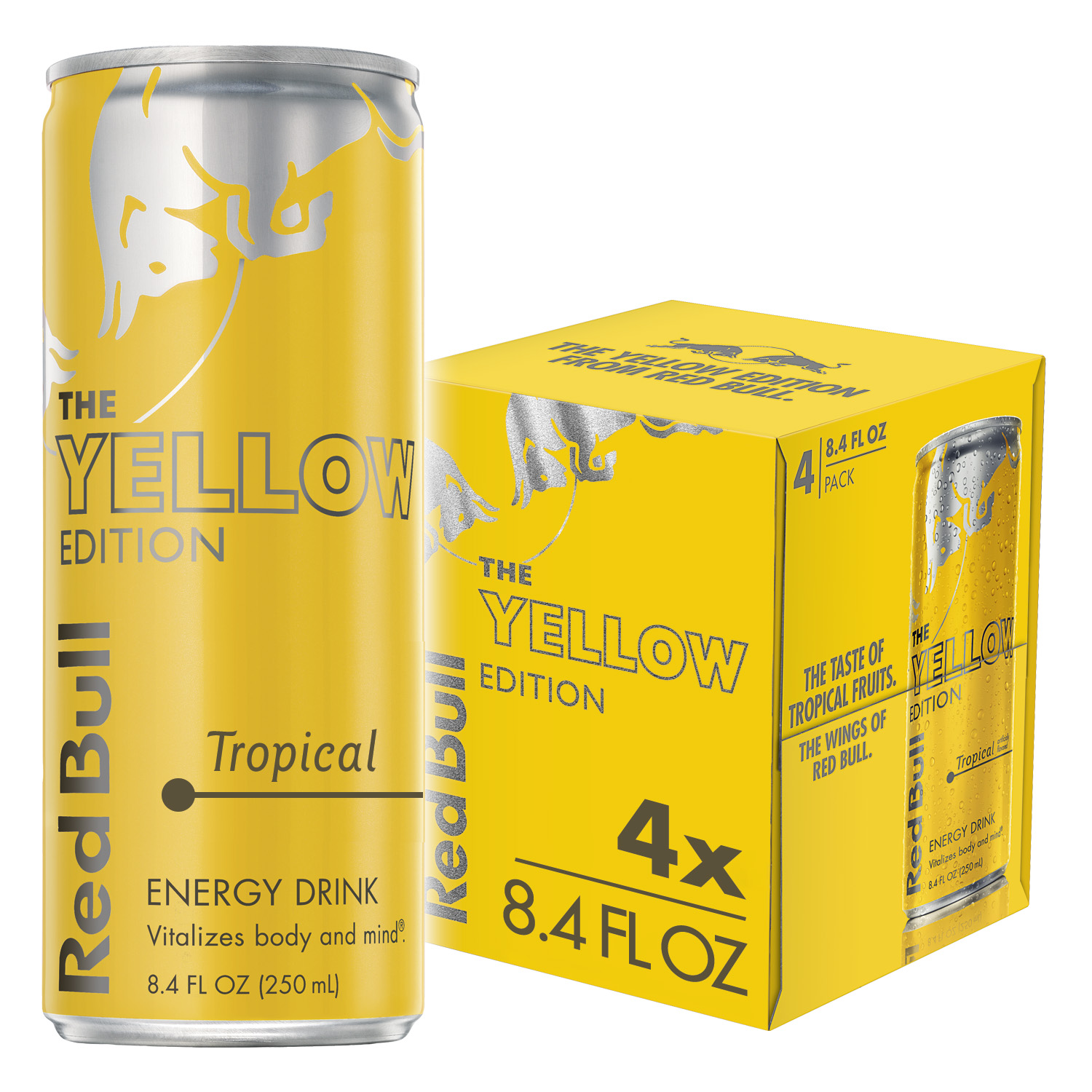Red Bull The Yellow Edition Energy Drink, Tropical, 8.4 Fl Oz, 4 Count