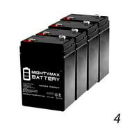 6V 4.5AH Battery Replaces Craftsman Garage Door Opener 53918 - 4 Pack