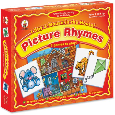 Carson-Dellosa, CDP3111, I Spy a Mouse in the House Matching Game, 1 Each, Multi