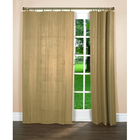 Versailles' Bamboo Wood Curtain Ring Top Panel (40in x