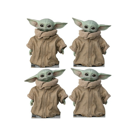 Advanced Graphics The Child (Set of 4) Life Size Cardboard Cutout Stand Up - Disney's Star Wars: The Mandalorian Life Size Cardboard Cut Outs