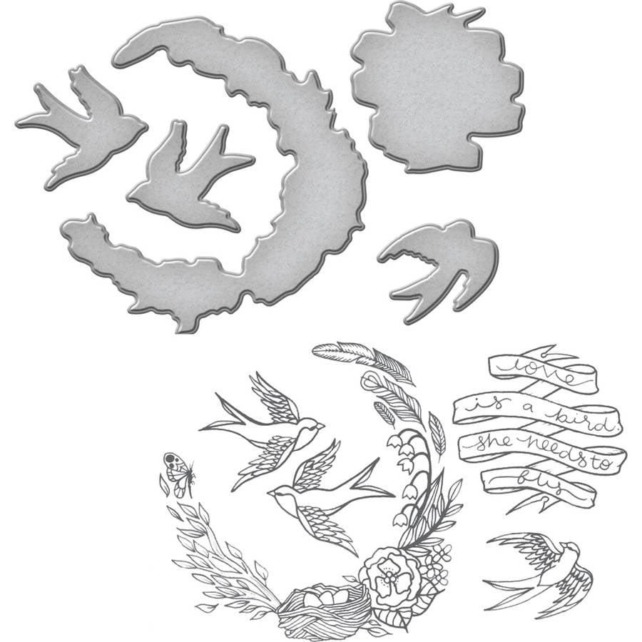 Spellbinders Stamp, & Die Set, Swallow
