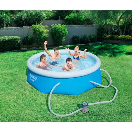 Bestway Above Ground Swimming Pool 305x76cm Fast Set Pool Family Filter Pump