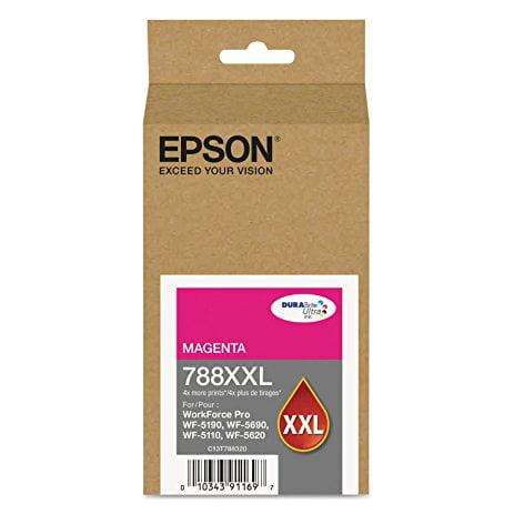 Epson (788XXL) DURABrite Ultra Extra High Capacity Magenta Ink Cartridge (4,000 Yield) T788XXL320