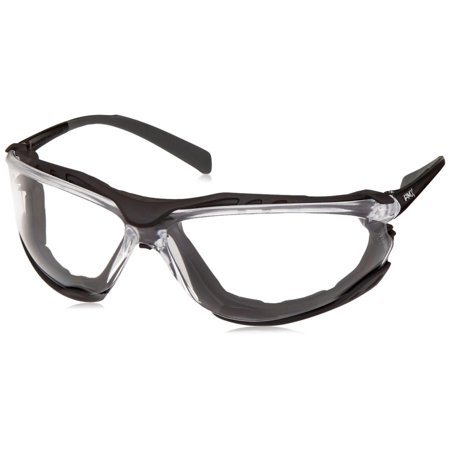Safety Proximity Safety Glasses SB9310ST, Clear H2X Anti-Fog Lens, 9.5 base curve lens provides excellent side protection By Pyramex
