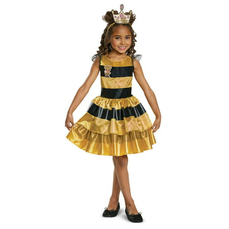 Classic Child L.O.L Queen Bee Doll Halloween Costume (Queen Gown Costume)