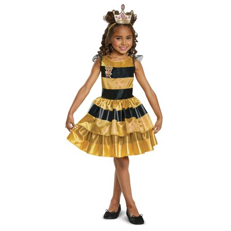 Classic Child L.O.L Queen Bee Doll Halloween Costume (Yellow Raincoat Halloween Costume)
