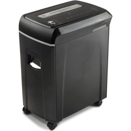 Aurora High Security 10 Sheet Micro Cut Paper  Cd And Credit Card Shredder With Pullout Basket  Black Gray