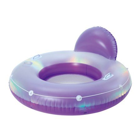 Aqua Glow Deluxe Tube Light Up Pool Float (Outcast Fish Cat 4 Deluxe Float Tube)