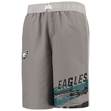 Philadelphia Eagles Youth Heat Wave Swim Trunks - Charcoal