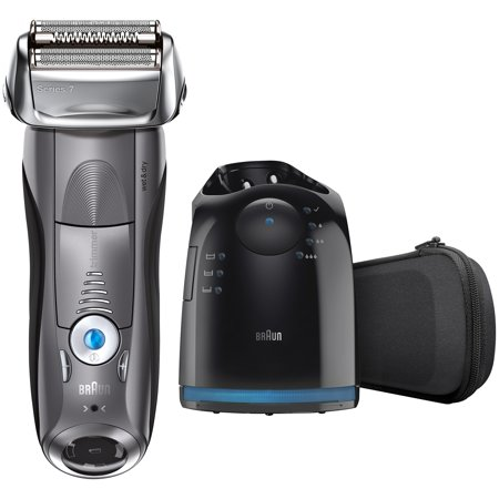 Braun Series 7 790Cc 4 Foil Electric Shaver With Clean   Charge Station