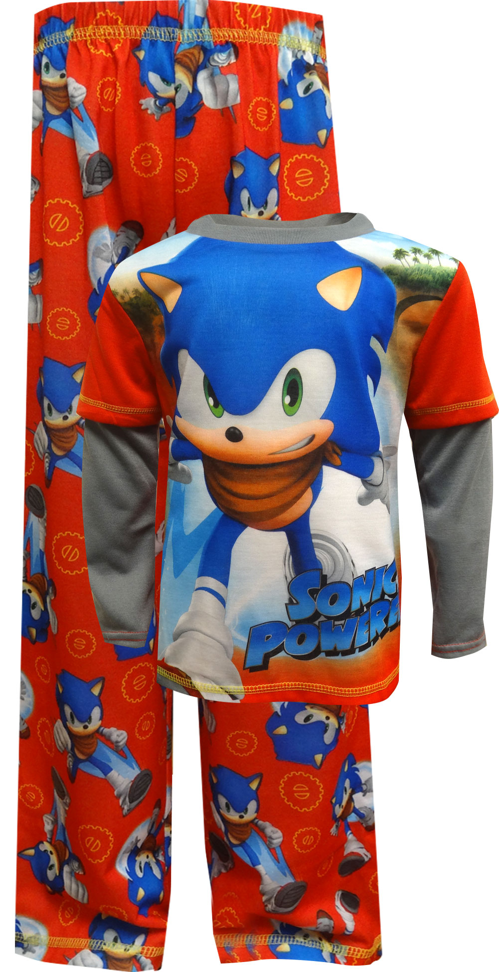 Sonic Little Boys 2 Piece Character Outfit Set