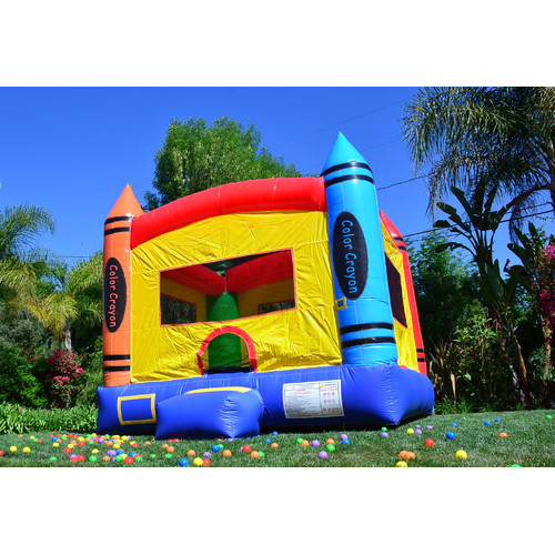JumpOrange DuraLite Crayon Party Bounce House