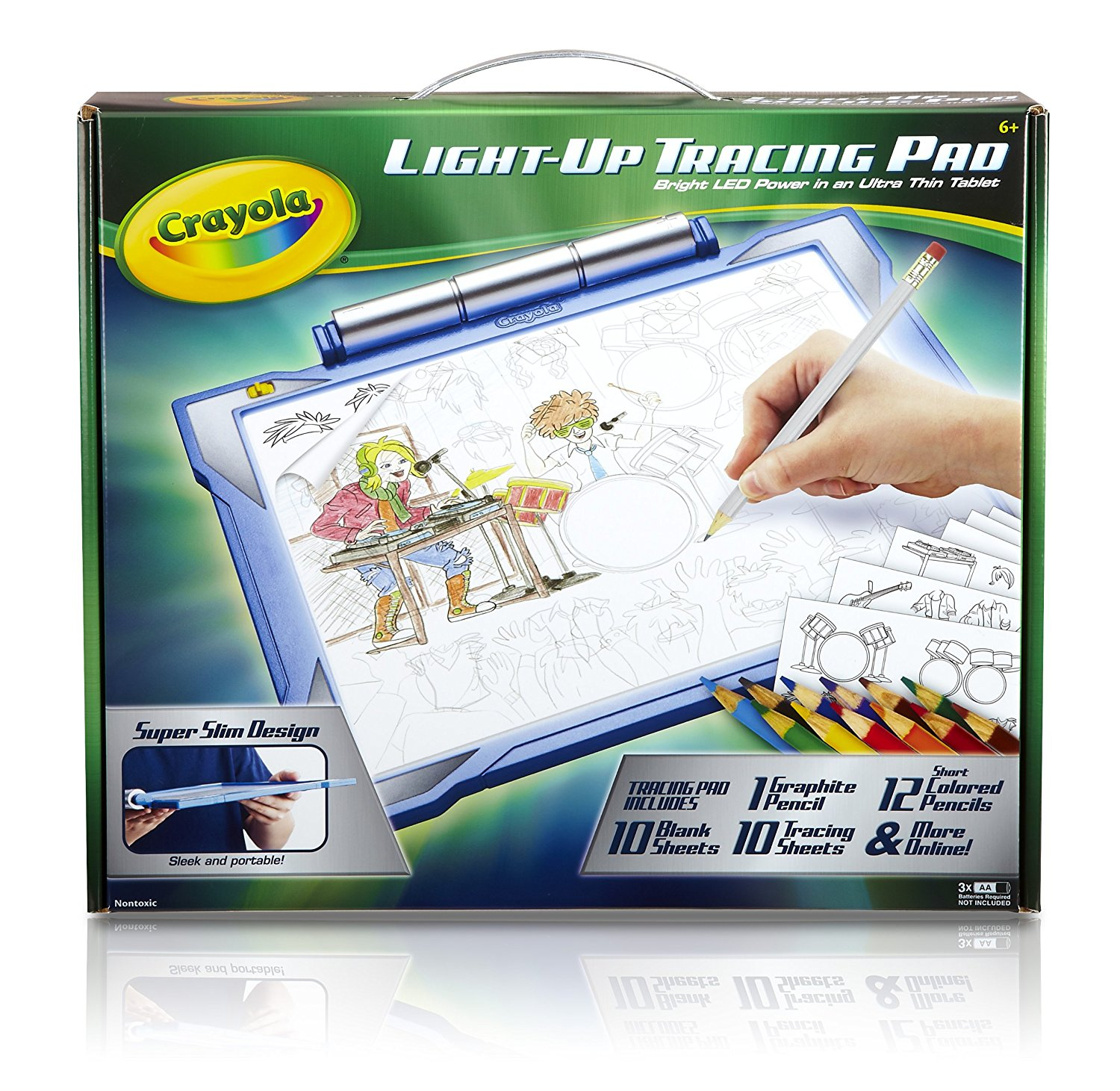; Light-up Tracing Pad, Coloring Board for Kids, Easy Coloring Pages,Tracing Pencil, 12... by