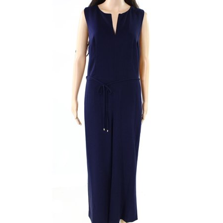 Lauren by Ralph Lauren NEW Navy Blue Womens 4 Crepe Wide-Leg Jumpsuit