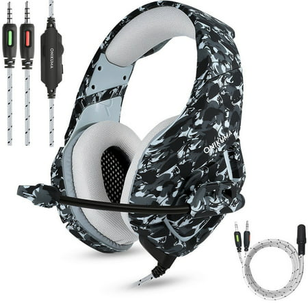 992b737b3a8 ONIKUMA K1 Stereo Bass Surround PC Gaming Headset for PS4 New Xbox One with  Mic - Walmart.com