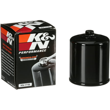 K&N KN-171B Harley Davidson/Buell High Performance Oil Filter - Harley Davidson Carbon