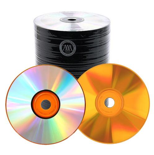 100 Spin-X 48X Orange Bottom CD-R 80min 700MB Shiny Silver