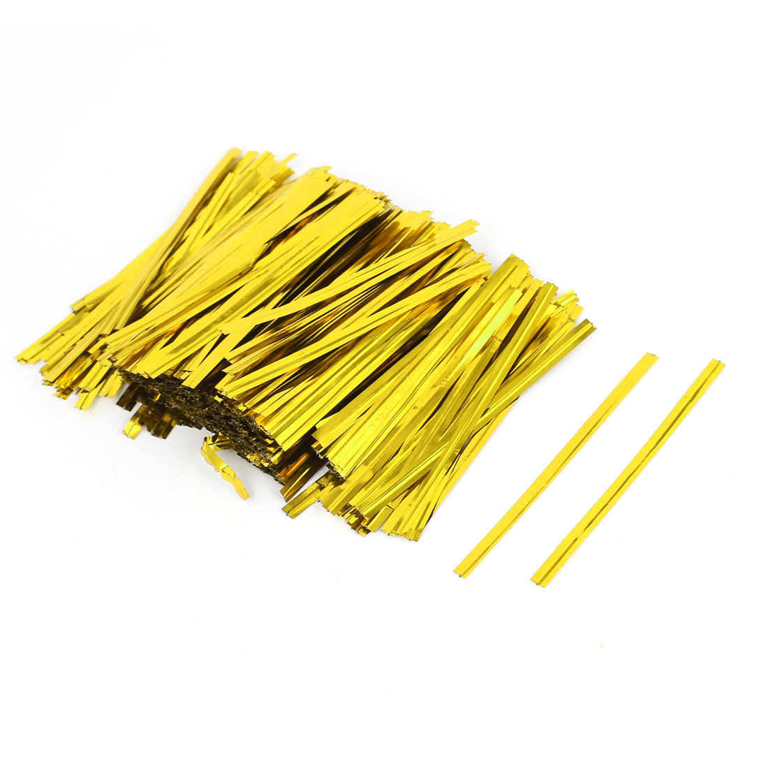 2400 Pcs Gold Tone 8cm Candy Bread Bags Packaging Twist Cable Tie