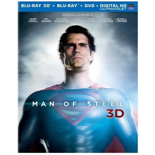 Man Of Steel (3D Blu-ray + Blu-ray + DVD + Digital HD) (Walmart Exclusive) (With INSTAWATCH) (Widescreen)